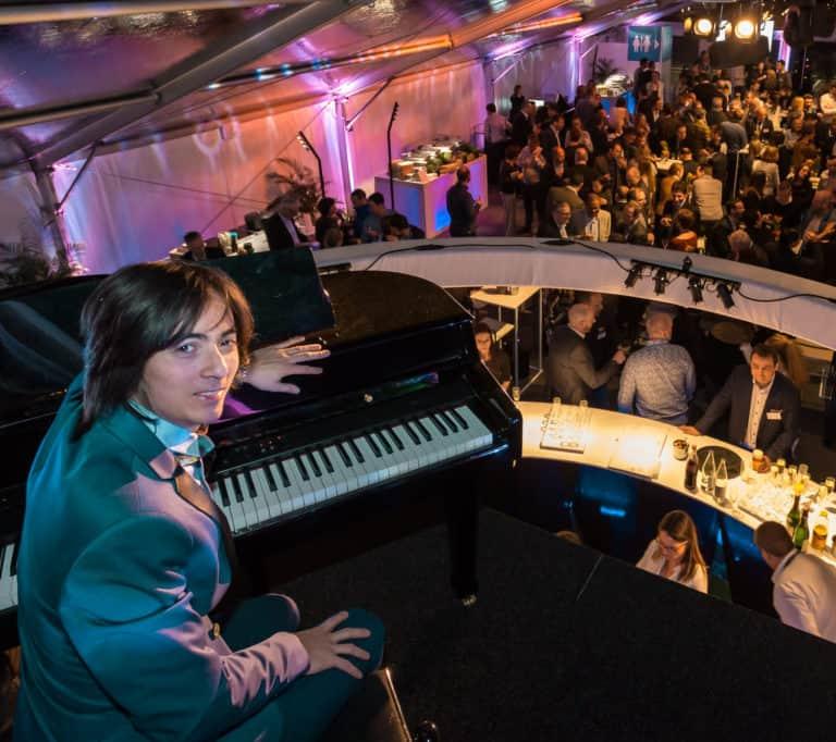 Piano bar pour l'événement d'Unisensor organisé par So Event