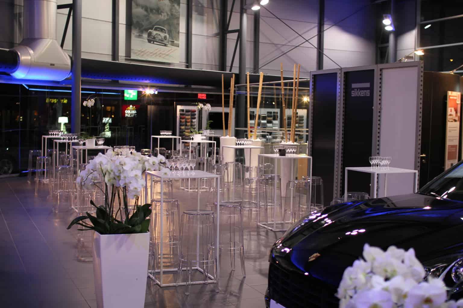 Evénement la centrale au garage Porsche organisé par So Event