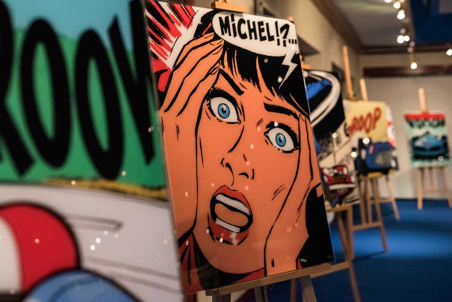 Exposition Michel Vaillant à l'occasion des Spa Classic. Organisation par So Event