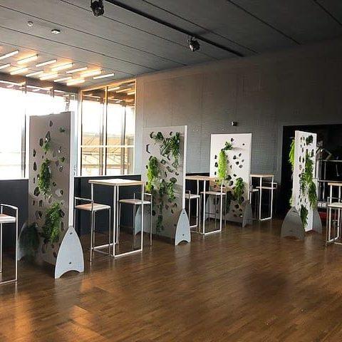 Projet mobilier design blanc et bois